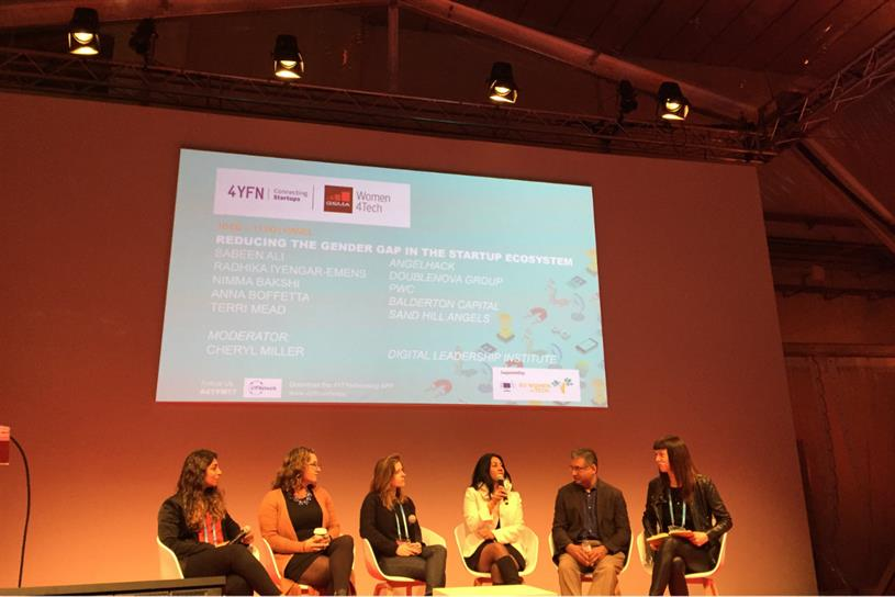 The Women4Tech panel session at Mobile World Congress