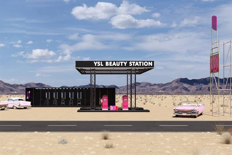 YSL Beauty station: appearing on Route 111