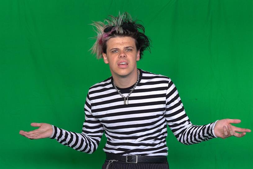 Yungblud: performed in front of green screen for experience