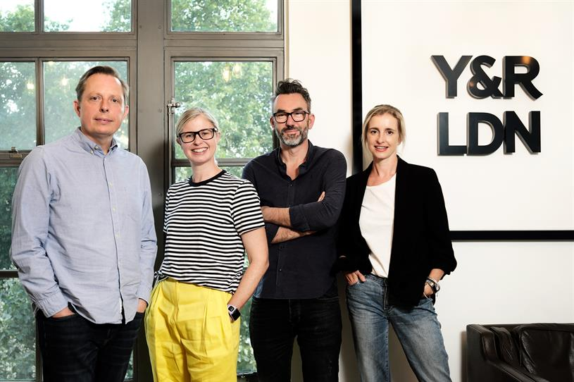 Y&R's leadership team: Lawson, Lewis, Burley and Lee