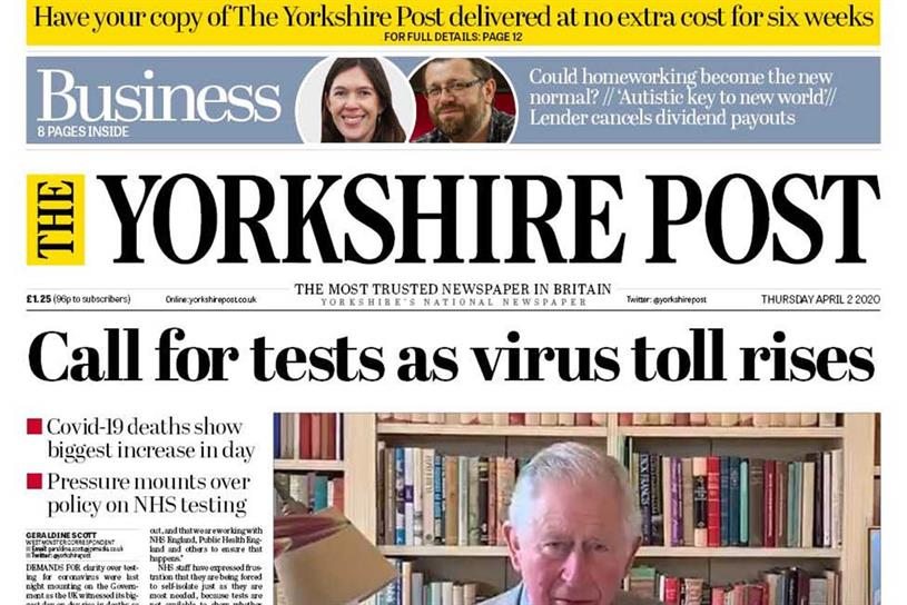 The Yorkshire Post: owner JPIMedia has furloughed staff