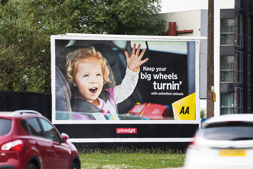 AA achieved the highest recall for all measured national out of home campaigns