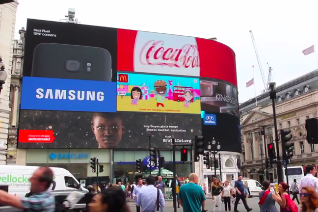 Weber Shandwick ActionAid campaign: only UK nomination
