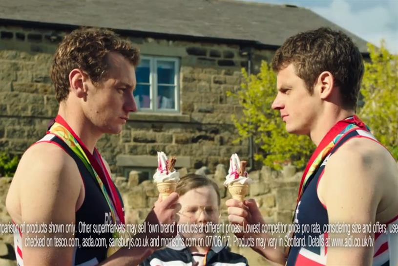 Aldi: this year's summer campaign features the Brownlee brothers