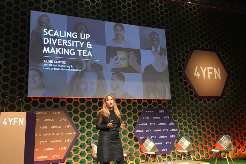 Aline Santos, Unilever executive vice-president, global marketing and head of diversity and inclusion