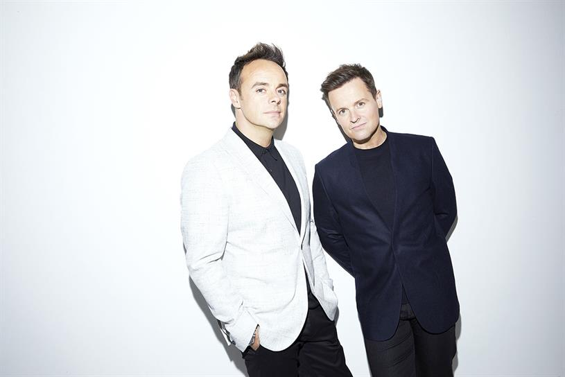 Ant & Dec: hosts of Saturday primetime ITV show