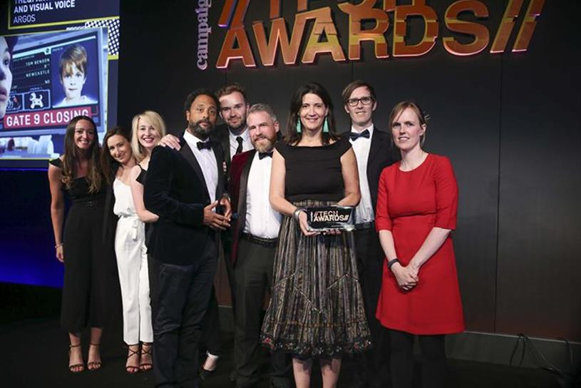 Last year's winners included AllTogetherNow / The & Partnership London for Argos' 'Visual voice'
