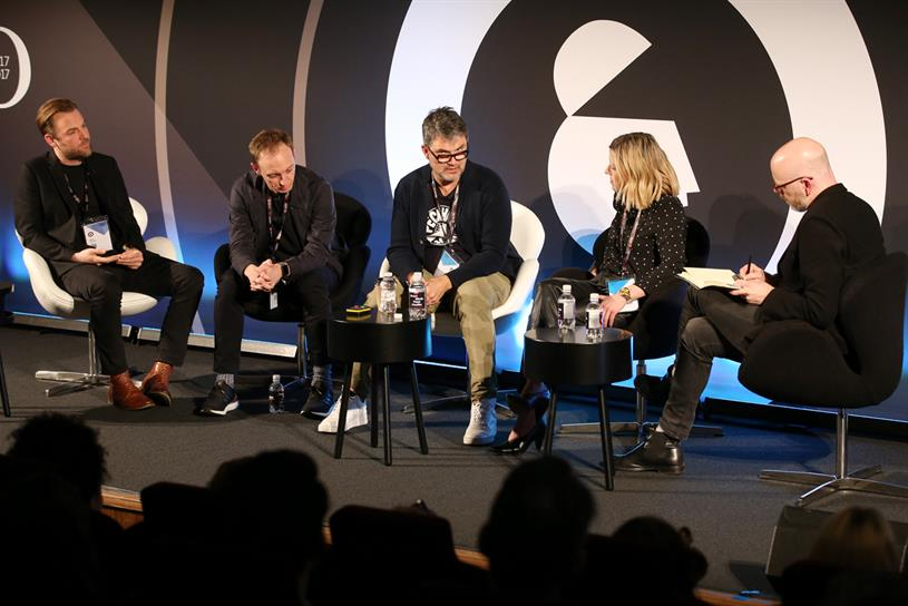 Advertising Week Europe: (left to right) Lodder, Eaves, Wilkins, Harrisson, Rayman