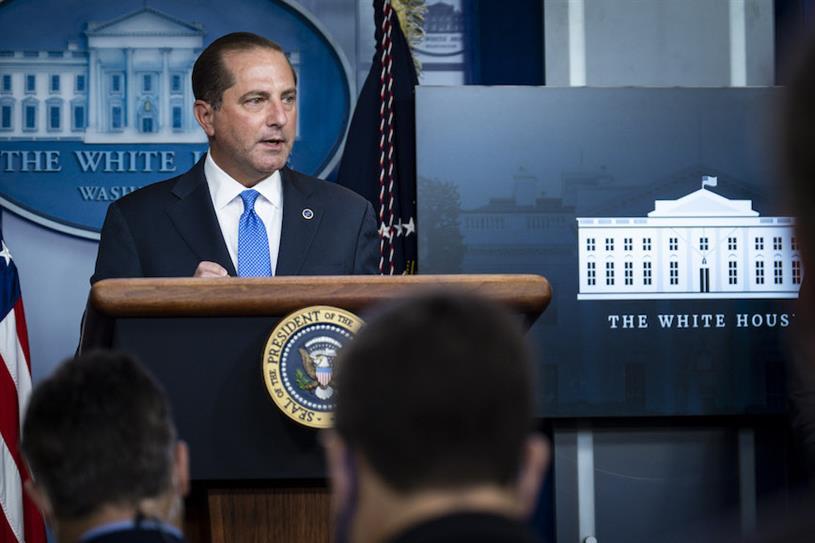 HHS secretary Alex Azar (Photo credit: Getty Images)