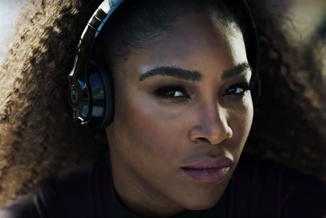 Serena Williams: featured in Beats by Dre's 'Be heard' spot last year
