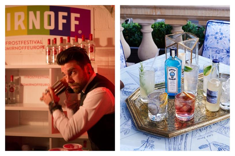 Smirnoff and Bombay Sapphire's brand experience marketing strategies go head to head