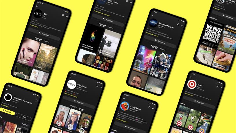 Snapchat: brand profile launch advertisers include Dior, L'Oréal Paris and Universal
