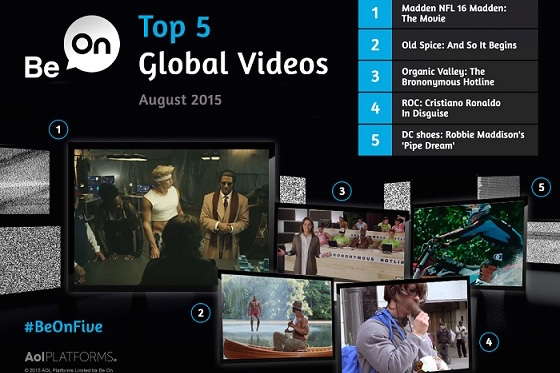 Be On's top 5 global brand videos, August 2015