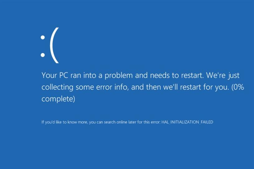 Blue screen of death: an example of how technology never works as it should