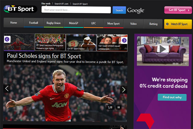 BT Sport: owns broadcast rights for Premier League, Champions League and FA Cup