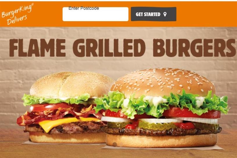 Burger King: offering free home delivery in three month trial