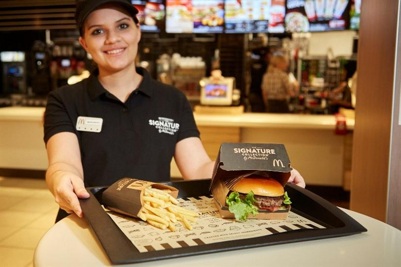 McDonald's: brand is tapping into premiumisation trend with new Signature range
