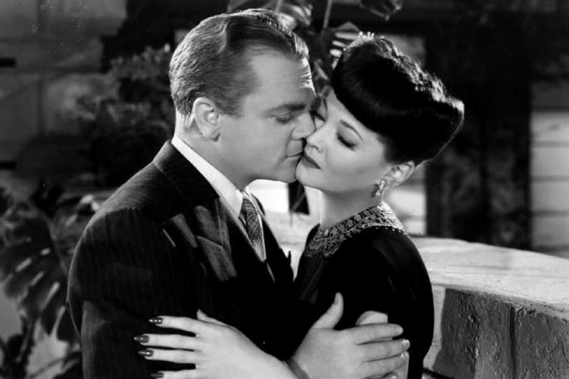 "James Cagney & Sylvia Sidney in Blood on the Sun - cropped screenshot (<a href=""http://www.toutlecine.com/images/film/0015/00152464-du-sang-dans-le-soleil.html"">original image</a>)"