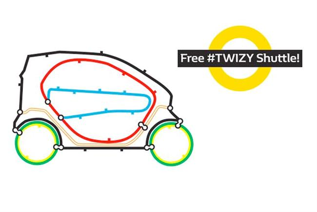 Renault: runs free #Twizy shuttle scheme during Tube strike