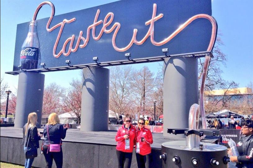 Coca-Cola debuts drinkable billboard in Indianapolis