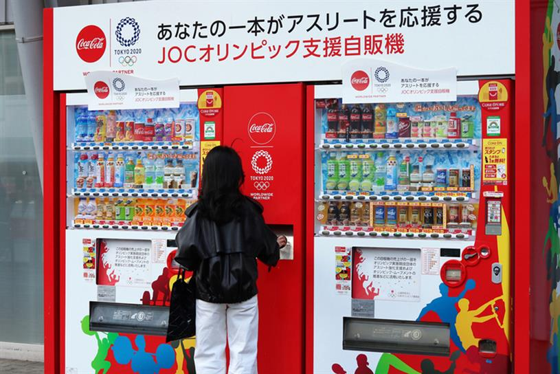 Coca-Cola: released special vending machines for Tokyo Olympics but has now pulled back physical activations