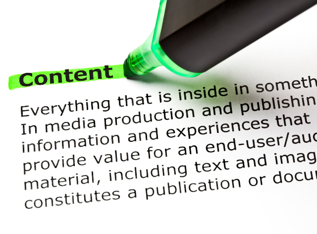 Content is the second most annoying word in marketing
