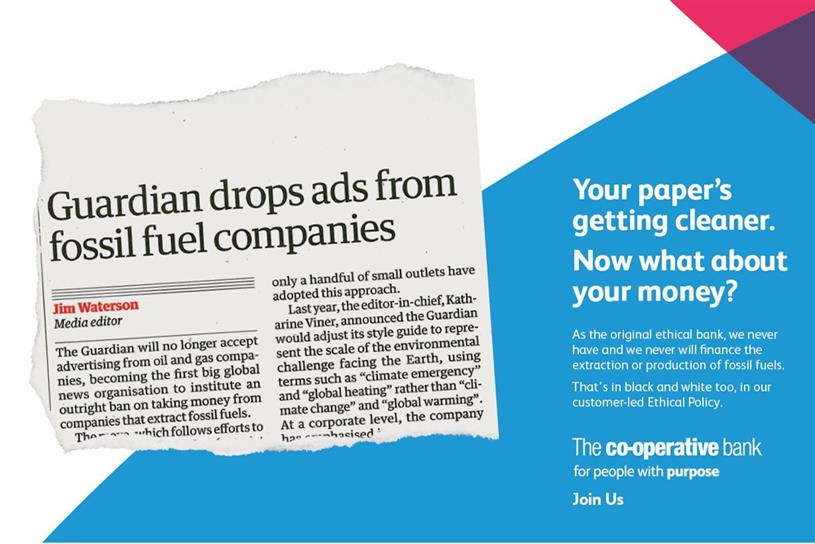Co-op Bank: work created by MullenLowe London