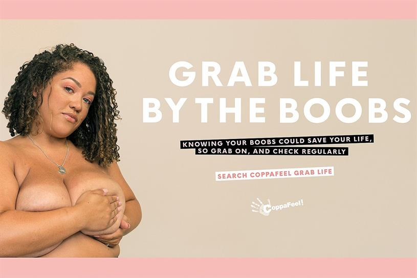 """The campaign empowers people to """"grab life by the boobs"""""""