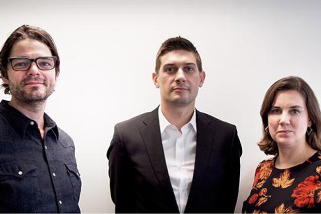 Critical Mass: from left, Sacha Reeb, Matt Kwiecinski and Caroline Barker