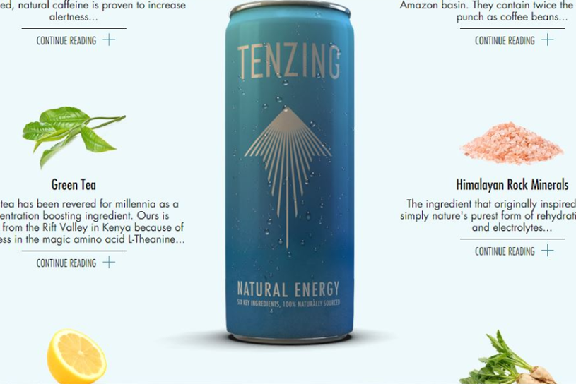 Tenzing: ex Red Bull marketing chief has launched a brand he hopes will rival his ex-employer