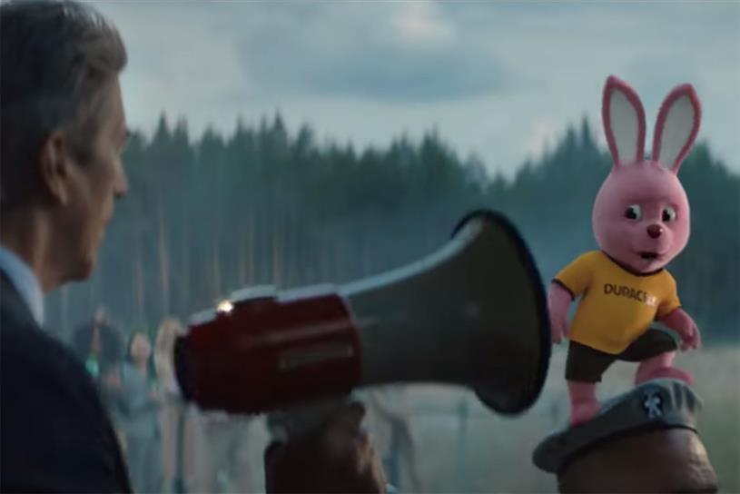 Duracell: pink bunny stars superhero in latest ads