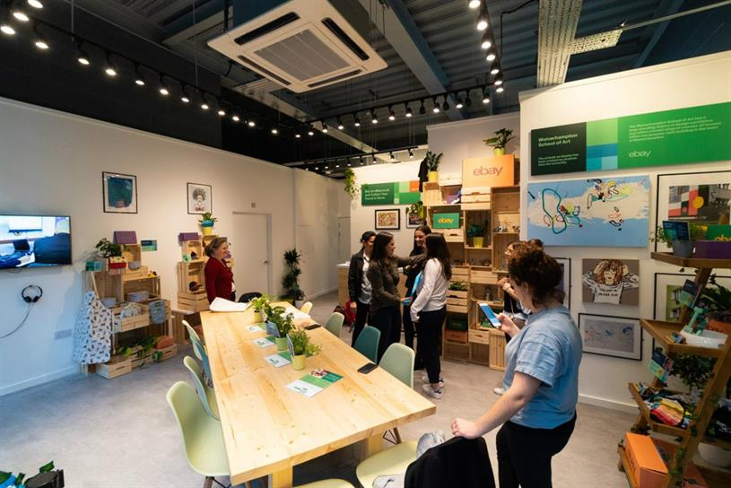EBay: workshops will be available at pop-up
