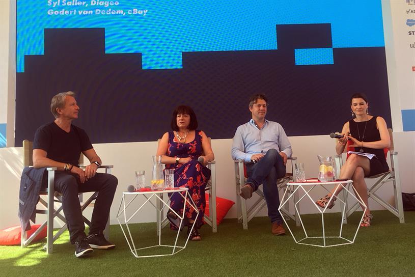 Cannes panel (L-R): Mathieu, Saller, van Dedem, and Blau