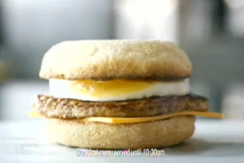 McDonalds advert for its free range eggs was enough to gain it a place in this weeks charts