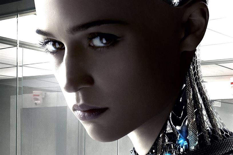Ex Machina: features humanoid Ava with AI
