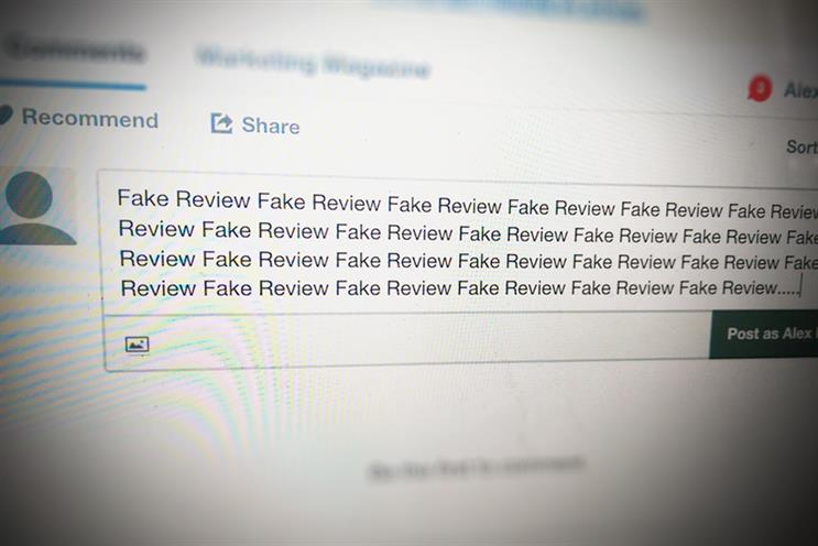 Fake reviews: people and groups offering to write fake reviews were found on Facebook and eBay