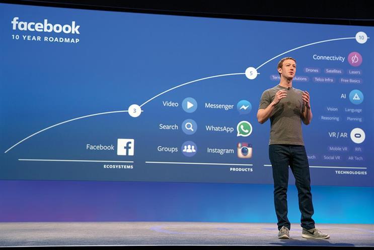 Chief executive Mark Zuckerberg in 2016