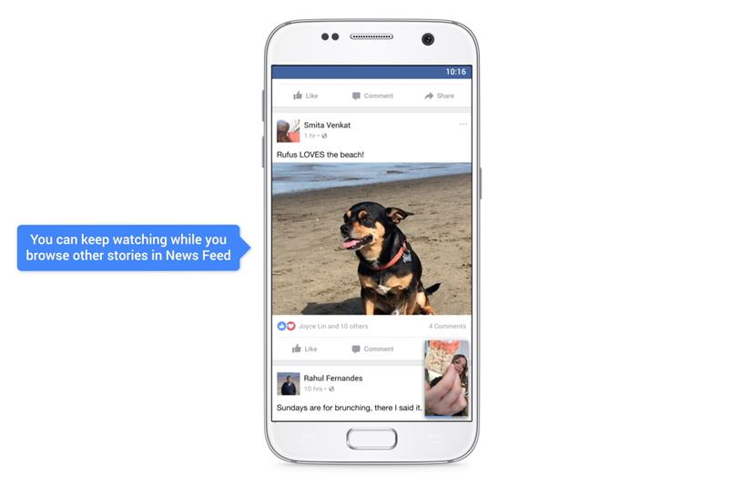 Facebook: introducing 'watch and scroll' for videos on its mobile app
