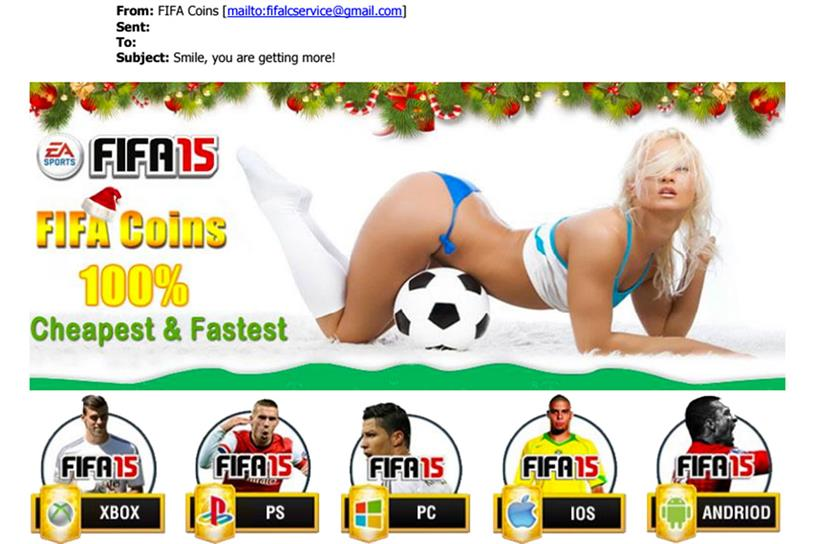 FIFA4Coins.com: marketing emails were ruled to be offensive