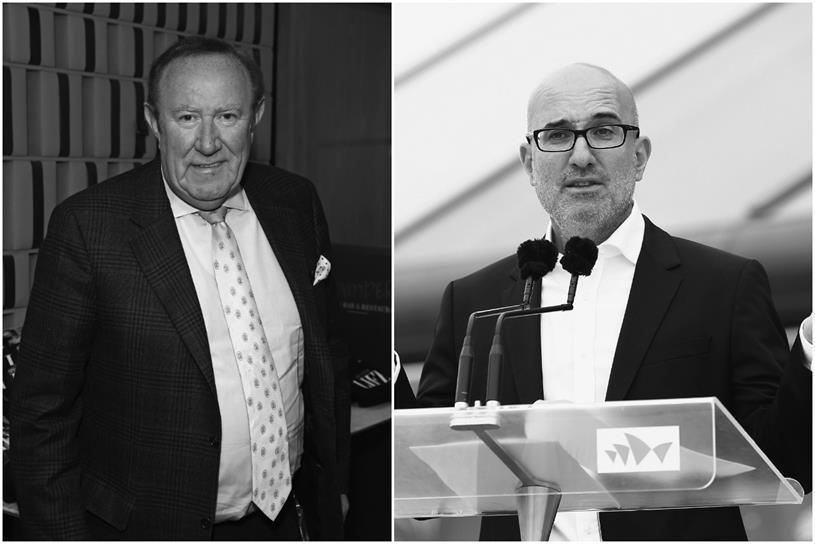 GB News: Andrew Neil, left (chairman), and Angelos Frangopoulos, (CEO). (Pictures: Getty)