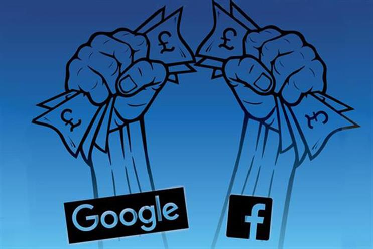 Google and Facebook: dominate search and display advertising respectively