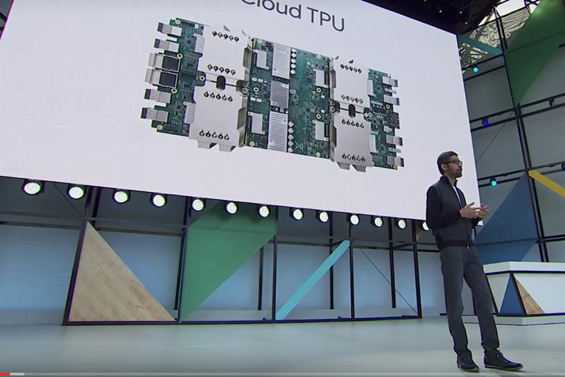 Google chief executive Sundar Pichai at Google I/O