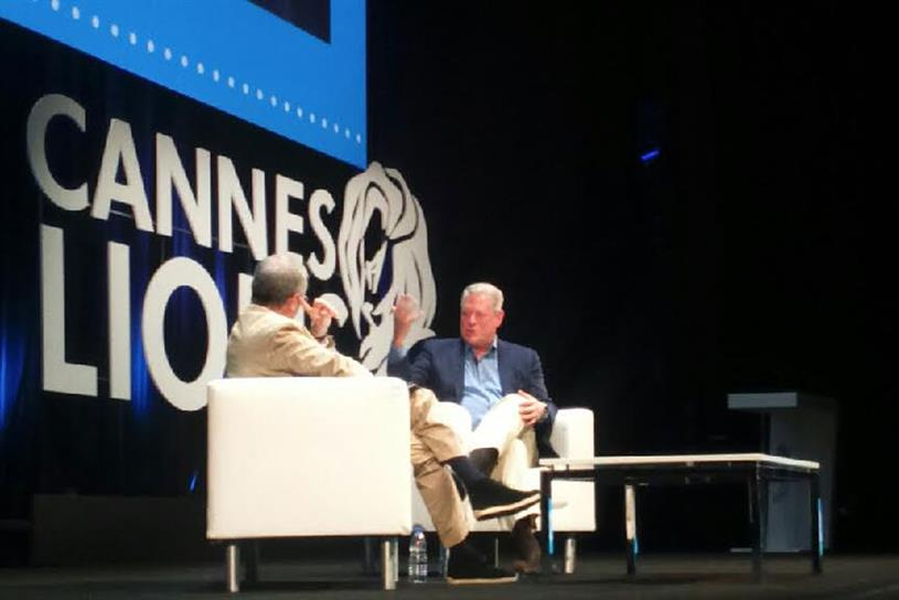 Sir Martin Sorrell: interviewed Al Gore at Cannes Lions
