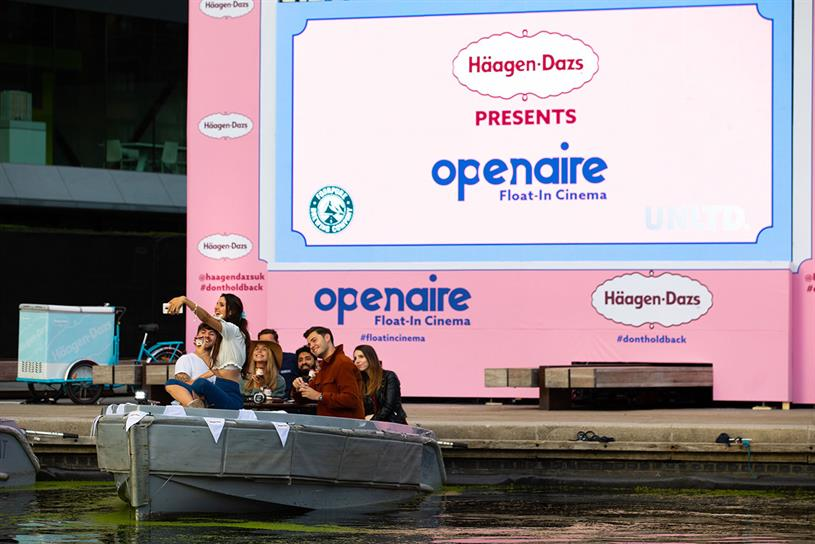 Häagen-Dazs: guests can sail around Little Venice before the screening (Credit: David Parry/PA Wire)