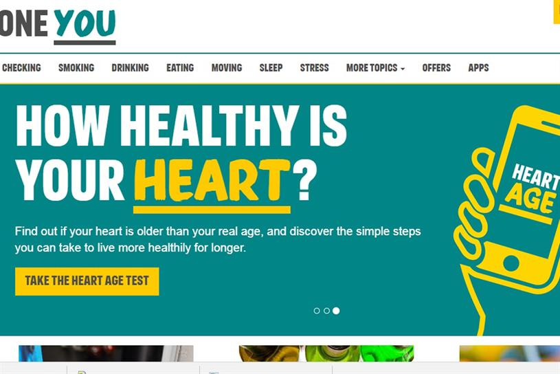 One you: the Public Health England brand worked with Amazon