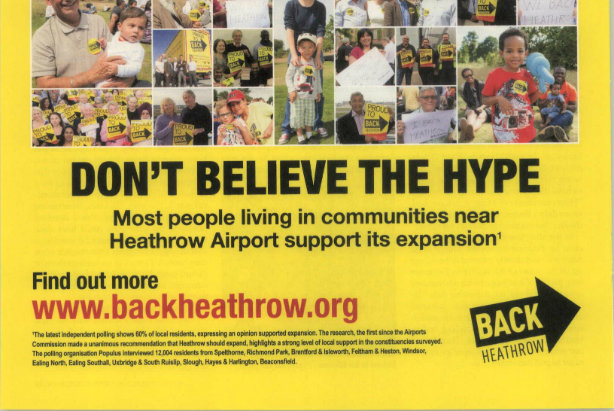 Heathrow: regional press ad banned by ASA