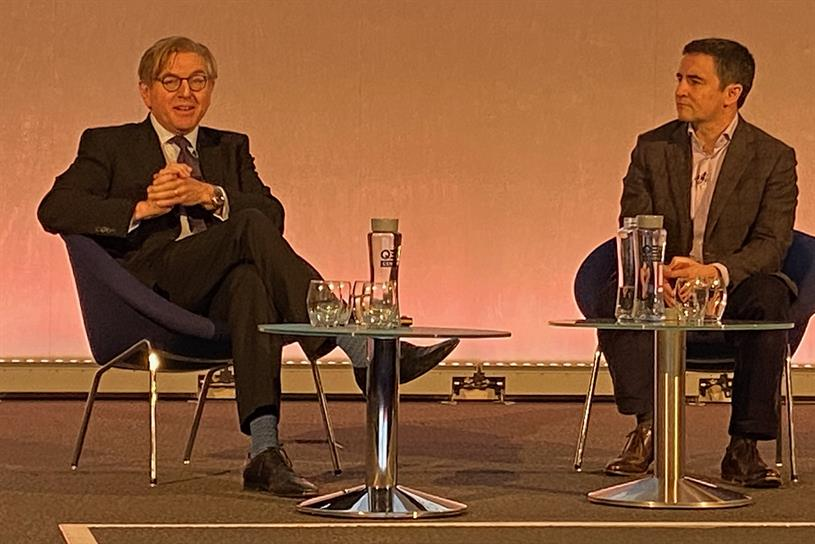 Lead conference speakers: Keith Weed (left) and Ronan Harris