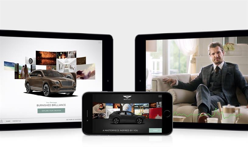 Bentley Inspirator: records facial expressions in real-time