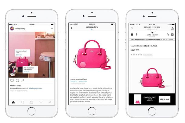 Instagram: increasingly popular as a shopping channel