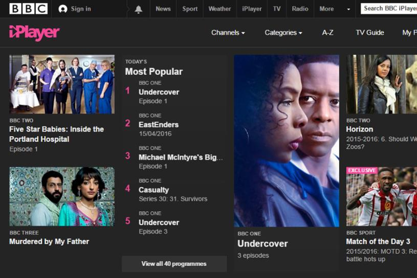 BBC iPlayer: most popular TV on-demand service